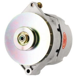 Powermaster Alternator 7288; 120 Amp Satin V-Belt (1G) for Chevy GM 17SI