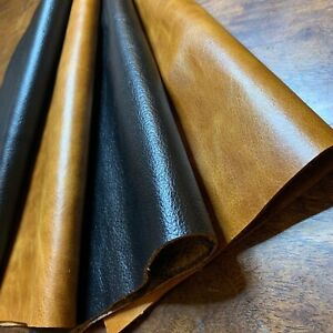Genuine distressed leather - Colours TAN or BLACK - VARIOUS SIZES - U.K Supplier