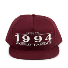 Supreme Way Back 5 Panel Maroon SS16H46 Accessories Burgundy/Silver
