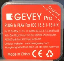 5 Gevey Pro 13.4.1 Support Latest IOS 13.6 ICCID MNC Unlock SIM Card All Iphones