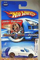 2005 Hot Wheels #20 First Editions-Faster Than Ever MASERATI MC12 White w/FTE Sp