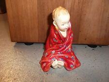 """Royal Doulton """" This Little Pig """" Baby Boy Wrapped in Red Blanket HN1793 Excell"""