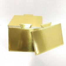 Cake Board Mini Rectangle Gold With Tab 100Pc 10 x 7 Cm Sydney Metro