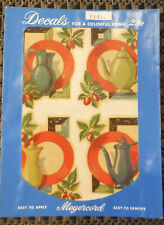 Vintage Meyercord Decals X141C PlateTeapot Kitchen - 4 Decals