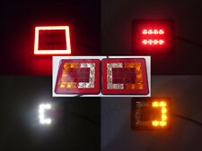2x 12V/24V NEON 38 SMD LED HALO square Rear Tail Lamp Lights Truck Lorry Trailer