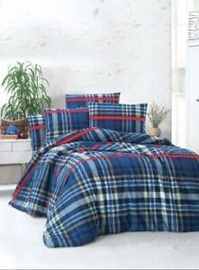 Turkish Cotton 230 x 220 Easy Care Super Soft King Size Quilt Duvet Bed Set