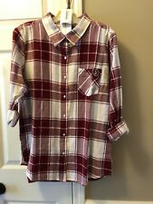 UG Apparel Florida State Seminoles Womens Boyfriend Flannel Shirt Sz M~Relaxed