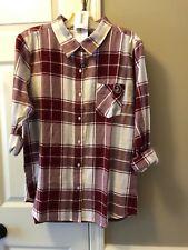 UG Apparel Florida State Seminoles Womens Boyfriend Flannel Shirt Sz L~Relaxed