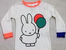 NEW Kids MIFFY Pjs Pyjama Set Size 1 White Long Sleeves 100% Cotton Girls Boys