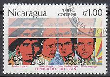 Nicaragua Briefmarke gestempelt Lopez Borge Buitrago Mayorga Revolution / 197