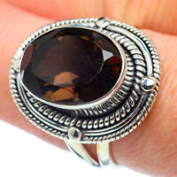 Smoky Quartz 925 Sterling Silver Ring Size 8.25 Ana Co Jewelry R38207F