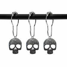 Zilucky Set Of 12 Sugar Skull Shower Curtain Hooks Decorative Home Bathroom Stai