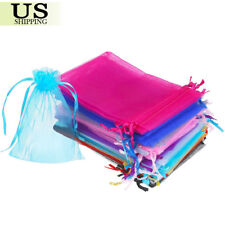 100/200 Organza Gift Bags Wedding Favor Party Sheer Candy Bag Jewelry Pouches