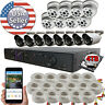 Sikker Standalone 16 Ch Channel DVR 1080P 2 Megapixel Camera security System lot