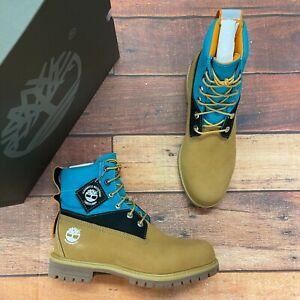 Timberland Men's Premium 6 Inch Waterproof Wheat Nubuck Boots A3ZXV
