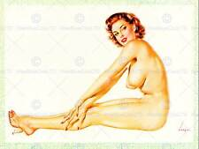 Ritratto Sexy Pin Up GIRL seni Topless USA Arte Poster Stampa cc6584
