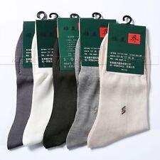 5 Pairs  Mens 100% Silk Socks mid calf Free p&p Lots__Fit  All  Seasons