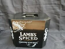 Lambs Spiced Rum Plastic Ice Bucket with lid and liner new