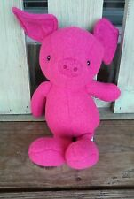 Jelly Cat London Pink Fleece  Pig