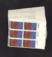 #1475 8c Love 30 plate blocks of 6 mint NH OG total 180 stamps