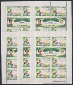 B466. 5x Montserrat - MNH - Famous People - Royal Wedding - Full Sheet
