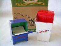 Hallmark Kiddie Car Corner Classics - Newspaper Box And Trash Can QHG3613 NIB