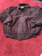 mens brown  Faux suede bomber jacket XL    V ALTA MODA COLLECTION