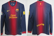 2012-2013 FC Barcelona Barca Jersey Shirt Camiseta Home Nike L/S Long Sleeve S