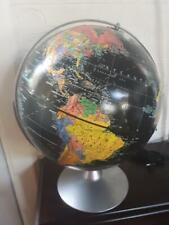 """Replogle Starlight 12"""" Globe Vintage 1950's Deco Black World Cold War Era Earth"""