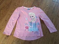 Girls long sleeved top size 6 years Disney Frozen Elsa Pink