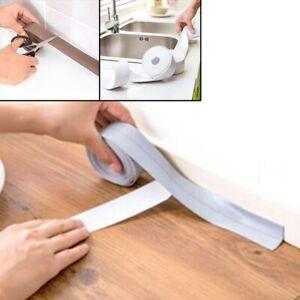 Kitchen Bath Wall Sealing Strip Self-Adhesive Moldproof Caulk Repair Tape PVC