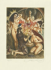 "Ex libris Erotic ""The temptation of Saint Anthony"" by KIRNITSKY SERGEY / Ukr."