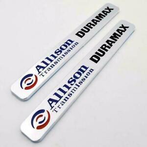 (2) Allison Transmission Duramax Emblems Badges Silverado 2500HD 3500HD