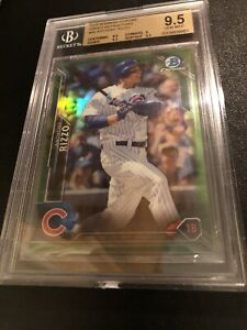 ANTHONY RIZZO 2016 BOWMAN CHROME GREEN REFRACTOR #45 14/99 CUBS BGS 9.5 GEM MINT