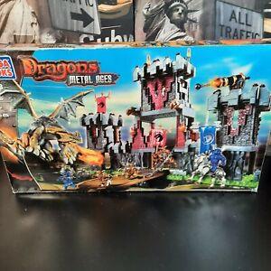 Mega Bloks 9508 Dragons Metal Ages Draigar Fortress Castle - Incomplete / PARTS