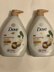 LOT OF 2 DOVE PURELY PAMPERING SHEA BUTTER WITH WARM VANILLA BODY WASH, 34 OZ