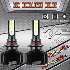 9005 HB3 Dual Color LED Headlight Kit 1000W 150000LM Power White/Yellow Bulbs