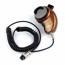 HG-M84W Microphone Woodgrain Noise Canceling Speakers for Cobra CB Radio Ham Mic