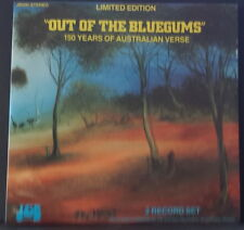 """OUT OF THE BLUEGUMS"" - 150 YEARS OF AUSTRALIAN VERSE 1984 J&B RECORDS AUS 2LP'S"