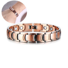 Men Copper Health Magnetic Therapy Bracelet Wristband Pain Relief Chain Carpal
