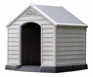 DOG HOUSE KETER KENNEL Weather Proof PLASTIC OUTDOOR 95 x 99 x 99 cm PET Puppy