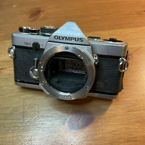 Classic Olympus OM2n 35mm Camera Body For Parts Not Working