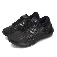 Asics Gel-Nimbus 22 Black Grey Women Running Training Shoes Sneaker 1012A587-002