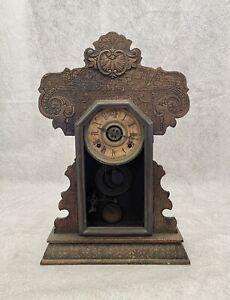 Vintage Ingraham Wind Up Chime Mantle Clock Untested