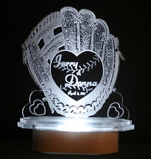 LIGHTED BASEBALL SOFTBALL GLOVE CAKE TOP