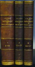 A.M. Villon - P. Guichard - DICTIONNAIRE DE CHIMIE INDUSTRIELLE - 1898 - 3Vol/3