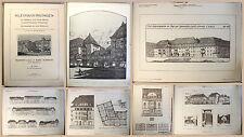 Schmidt Kleinwohnungen für Mittlere und Groß-Städte Tafelband 1912 Architektur