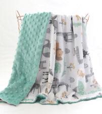 New Animals Zoo Minky Baby Blanket Stroller Pram Crib Shower Gift