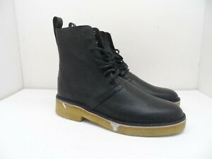 Clarks Men's Desert Mali 2 Boots Black Scotch Grain Size 9.5M