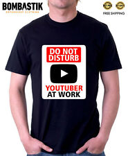 R0396 YOUTUBER AT WORK T-shirt Funny Internet Online for Youtube Fans Videos tee